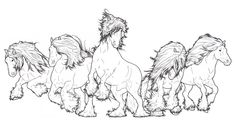 Gypsy Vanner Herd by ReQuay.deviantart.com on @deviantART