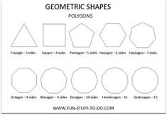 Polygons - geometric-shapes-polygons-sides-worksheet