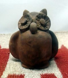 Owl Effigy Pinch Pot Pottery Local Clay Pit Fired by azsunshine51, $22.00