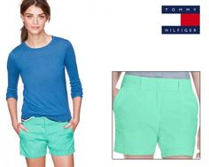 Why should boys have all the fun? Now get into the spirit of summer with these gorgeous Tommy Hilfiger Women's Chino Shorts in a tantalising teal (aqua green) colour.  These shorts feature iconic Tommy styling for the modern woman who wants to be free and expressive. These shorts have been made from a lightweight cotton blended material that is perfect for summer.