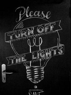 Turn off the lights by Gaston de Lapoyade, via Behance