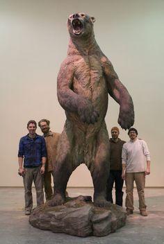 Short-faced Bear (Arctodus simus) reproduction sculpture
