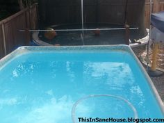 A DiY tutorial on how to make a solar cover reel for your above ground pool. Above Ground Pool, In Ground Pools, Diy Pool Heater, Pool Cover Roller, Solar Pool Cover, Pool Hacks, Pool Signs, Kid Pool, Outdoor Play