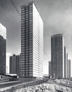 The Red Road flats in Petershill c 1960s.