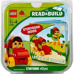 LEGO DUPLO Let's Go! Vroom! Bricks and Books Set