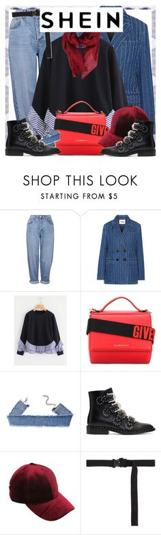 """""""Style's Tip: How to wear a SHEIN Sweater?"""" by marymary91 ❤ liked on Polyvore featuring Topshop, MSGM, Givenchy, Alyx and Gucci"""