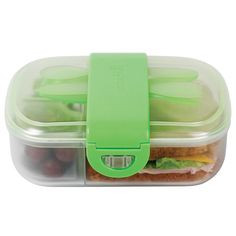 Click Lock Bento Mealtime Set - little spaces help to keep food organised!