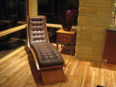 Thomas Moser chaise    Charles Stinson Architect  Laurie Plattes interior design Floor Chair, Architecture Design, Flooring, Contemporary, Furniture, Home Decor, Chair, Homemade Home Decor, Architecture Layout