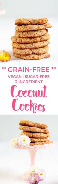 Grain-free Coconut Cookies | Vegan | Sugar-free baking | Gluten-free recipe