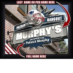 New England Patriots Personalized Hangout Sign by HindsDesigns, $33.95