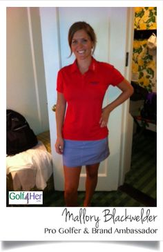 Mallory is wearing the #FILA Athena Polo and #Jofit Alexandria Skort. | Golf4Her.com