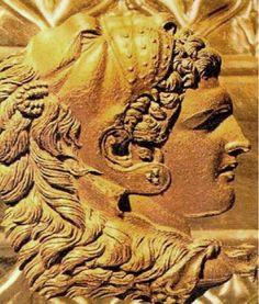 Alexander the Great with a helmet showing a lion head Alexander The Great, Great Tattoos, Ancient Greece, Lion, Bronze, Statue, Artemis, Homeland, Tattoo Ideas