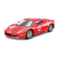 Bburago Ferrari Series Race and Play 1:43 Scale Die-Cast Car - Red 458 Challenge $9.99  #Sale