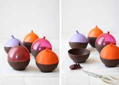 Chocolate bowl - Bol de chocolate (chocolate cups tutorial)