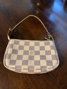 79e25ba06108 Authentic Louis Vuitton Mini Pochette Accessoires in Damier Azur Canvas   175.0  louis  vuitton  handbag
