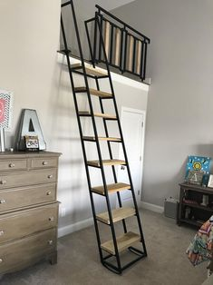 Attic Stairs, House Stairs, Small Loft Spaces, Small Space Staircase, Small Attic Room, Space Saving Staircase, Tiny Loft, Loft Room, Mezzanine Bedroom