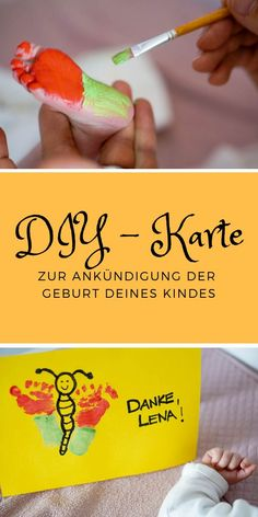 Warum eine Hebamme für meine Geburt unerlässlich war Create a midwife present as a thank you – it's so easy to make a DIY card for your midwife with your baby's footprint. A great gift for the important midwife. Baby Posters, Baby Footprints, Mom And Baby, Diy Cards, Birth, Babys, Great Gifts, Presents, Keyboard