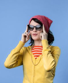 Colorful prints, pearls, and vintage cat-eye Fendi sunnies. You love the classy femininity of 50's style and so do we!