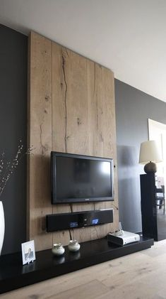 Wooden wall adds texture / character