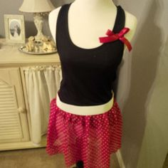 Minnie mouse inspired running costume, run Disney, Disney marathon, Princess half marathon