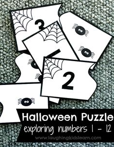 Halloween is a fun time of year and always inspires learning opportunities. This Halloween counting activity using numbers 1 to 12 is great for helping your children consolidate basic numbers to ten and slightly beyond. Numeracy Activities, Autumn Activities For Kids, Counting Activities, Infant Activities, Halloween Activities For Kids, Halloween Math, Free Preschool, Preschool Printables, Early Years Teaching