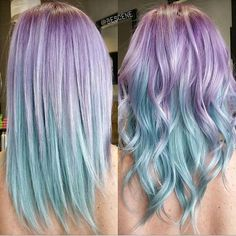 11 Hottest Ombre Hairstyles You Can Try - Ombre Hair Color Ideas - Haarfarben - Hair Ombré Hair, Dye My Hair, Cute Hair Colors, Cool Hair Color, Pastel Colors, Rainbow Hair Colors, Mint Hair Color, Pastel Rainbow Hair, Pastel Style