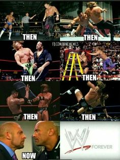 The rivalry of The Rock vs Triple H. Wrestling Memes, Watch Wrestling, Wwe Funny, Funny Memes, Daniel Bryan Wwe, Wwe Pictures, Wwe Tna, Total Divas, Seth Rollins