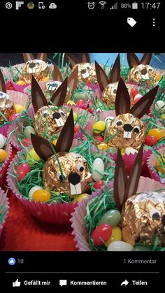 Ferrero Hasen im Nest Ferrero Hasen im Nest The post Ferrero Hasen im Nest appeared first on Geschenke ideen. crafts with candy Ferrero Hasen im Nest - Geschenke ideen Easter Candy, Easter Treats, Easter Eggs, Easter 2018, Diy Ostern, Candy Crafts, Easter Activities, Easter Dinner, Easter Recipes