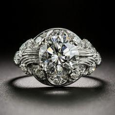 Art Deco Diamond Engagement Ring $24,750.00 http://www.langantiques.com/products/item/10-1-6845