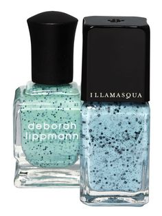 It may be the cutest nail trend we've seen yet: These pastel polishes have tiny black flecks that make it look like you have a wee robin's egg on the tip of each finger. Just in time for Easter... Deborah Lippmann Rockin' Robin, $19. Illamasqua Fragile, $16.