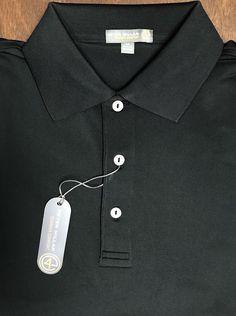 NEW Peter Millar E4 Per4mance Summer Comfort Solid Black Golf Polo Shirt Size M  | eBay
