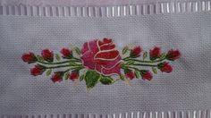 Toalha lavabo -Tema floral