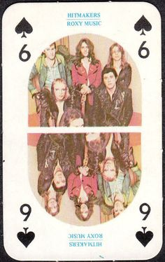 Roxy Music playing cards