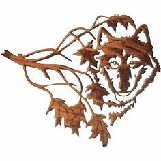 "14"" Lazart Metal Wall Art Wall Decor - Northwood's (Wolf Face in Leaves) by Laser Wall Art & Home Décor. $84.56. Easy hang hooks located on the back of the art piece. Made in the U.S.A. Laser Cut Metal Wall Art. Laser cut from cold rolled steel, these wall art pieces are hand finished in beautiful color mosaics or acid washed to achieve a finish that is elegant and timeless."
