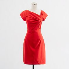 The color and neckline of this dress are perfect!     Factory asymmetric shift dress