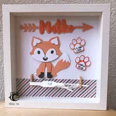 New Baby Gift Ideas - Personalised and Unique Personalised Baby Boy Keepsake Shadow Box Frame Baby Boy Art, Baby Boy Gifts, Baby Baby, Baby Boy Names Strong, Names Baby, Girl Names, Fox Nursery, Fox Themed Nursery, Girl Nursery