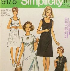 Vintage 1970s Summer Dress Pattern Petite Size 18 Bust by Revvie1, $6.00