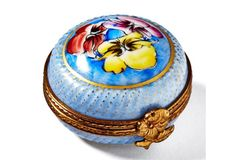 Blue Purse Box   Limoges box