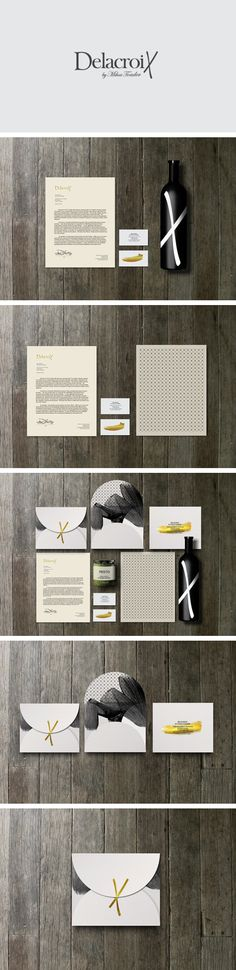 Delacroix by MBRANDING | #stationary #corporate #design #corporatedesign #identity #branding #marketing < repinned by www.BlickeDeeler.de | Take a look at www.LogoGestaltung-Hamburg.de