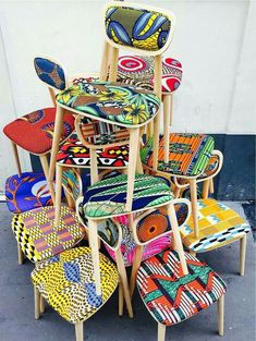 african-ankara-wax-print-chairs
