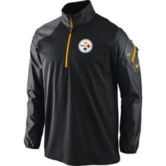 Show details for Pittsburgh Steelers Nike 1/4 Zip Dri-FIT Hybrid Jacket