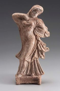 Veiled dancing woman  Greek, Late Classical Period, mid-4th century B.C.  PLACE OF MANUFACTURE  Boiotia, Greece