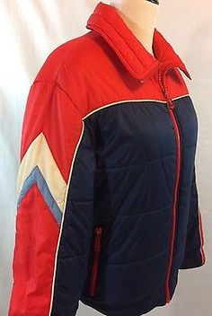 Details about Vtg Mountain Goat Insulated Retro Ski Winter Jacket White Stag  Multicolors M ce4caea14