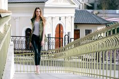 Army Vest, Biker Pants, Fashion Bloggers, Outfit Of The Day, Leather Pants, Women's Fashion, Street Style, My Style, Board
