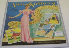 1943 Ann Sothern Paper Doll Book Ann Sothern, Paper Dolls Book, Movie Stars, Princess Zelda, Artist, Vintage, Artists, Vintage Comics