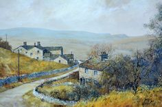 Stephen Maude Original of Storiths Wharfdale Acrylic Vintage Art OOAK Painting Vintage Landscape Painting (for sale)