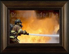 Courage Under Fire By Todd Thunstedt 20x26 Fire Son First Responder Fireman Firefighter Helmet Halligan Chief Hydrant Extinguisher Hose Forest Smokey Bear Ax Framed Art Print Wall Décor Picture ThunderMark Art and Graphics http://www.amazon.com/dp/B014G030CY/ref=cm_sw_r_pi_dp_rt44vb1CYHZER