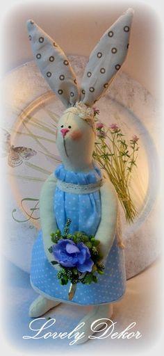 Tilda Bunny fait main  décoration  cadeau de par LOVELYdekor