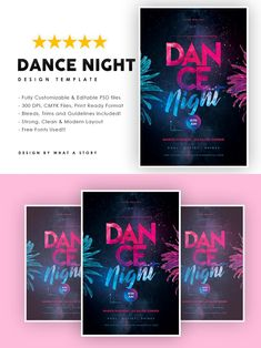 Party Flyer, Your Image, Photoshop, Layout, Templates, Dance, Night, Typo, Fonts