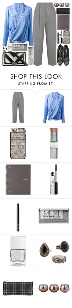 """Office style"" by martinabb ❤ liked on Polyvore featuring Acne Studios, MICHAEL Michael Kors, Dolce&Gabbana, Chanel, Casetify, i am a, MAC Cosmetics, NARS Cosmetics, Boohoo and Nails Inc."